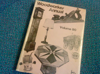 One of the compilation annuals, holding re-prints of that years copies of 'The Woodworker'.