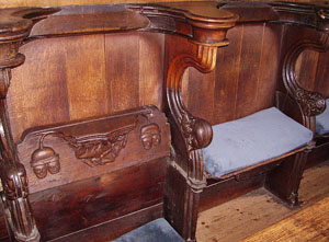 Misericord from inside at 'Boston Stump', Lincolnshire, UK. Or, to give the chruch it's full name, 'St Botolph's Church of the Parish of Boston'.