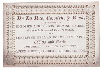 De La Rue (trade card)