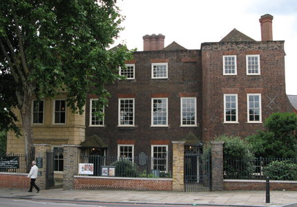 Sutton House, located between 2 and 4 Homerton High Street, Hackney, London