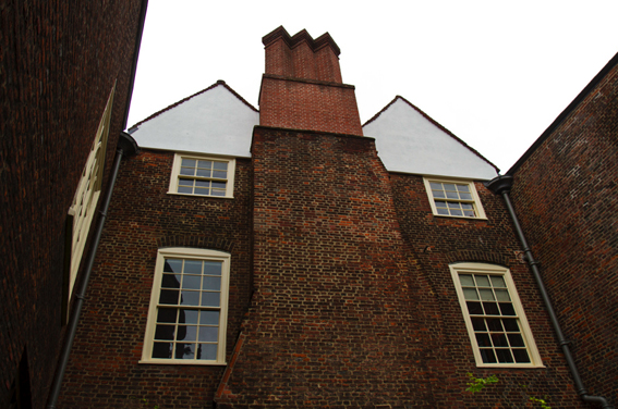 The amazing brick chimneys at Sutton House, Hackney