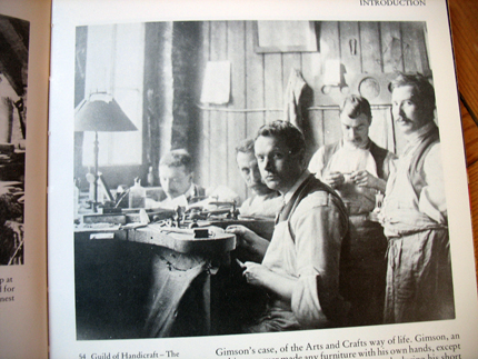 The Guild of Handicraft - The metalwork shop at Essex House, photo before 1902.