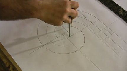 drawing a volute