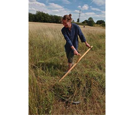 scything_Hackney Marshes